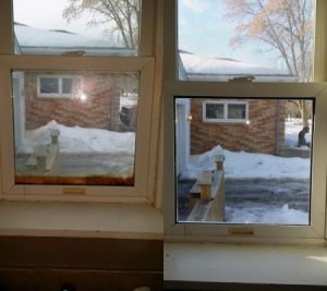 Window Pane Repair Before and After
